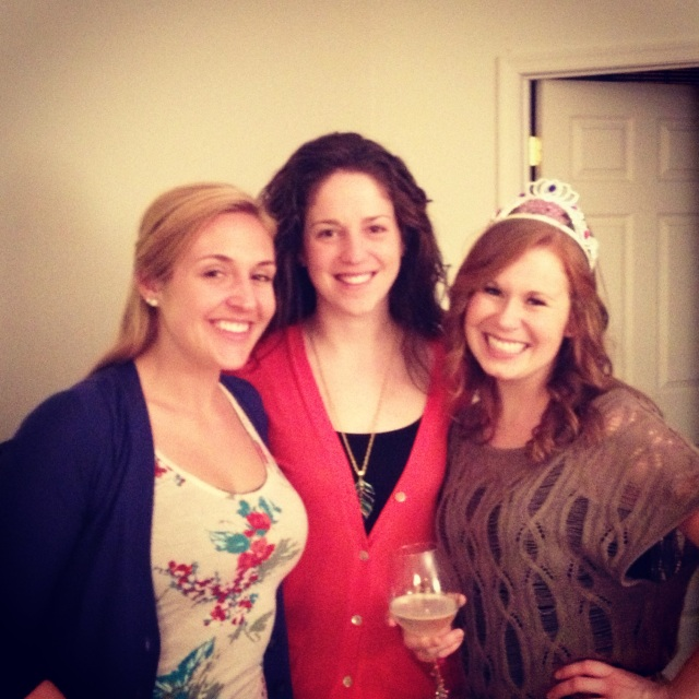 Celebrating with the roomies