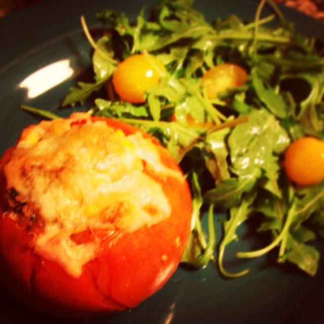 Stuffed & Baked Tomatoes