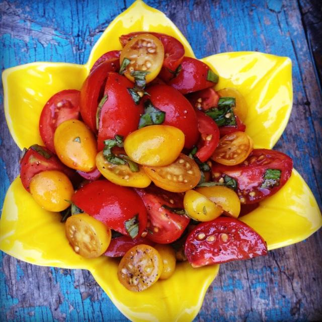 Fresh tomato and basil salad
