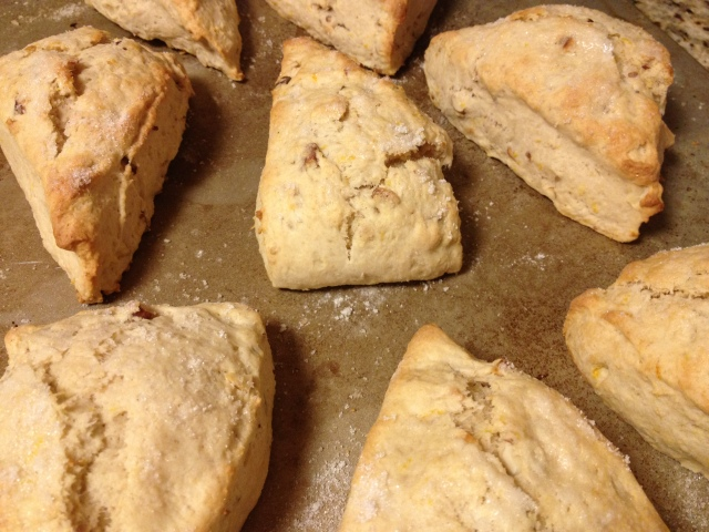 Orange and almond scones