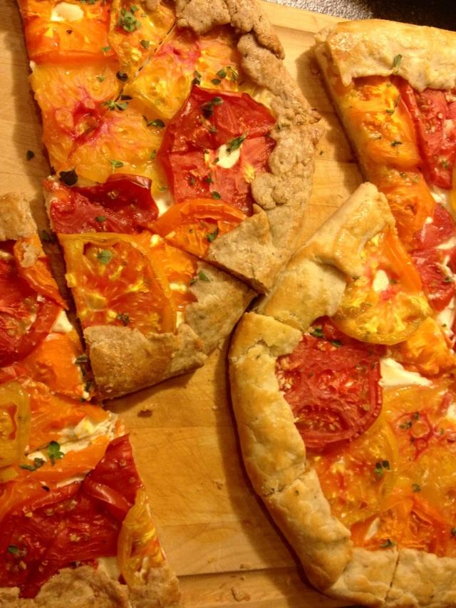 Sliced Tomato Galette