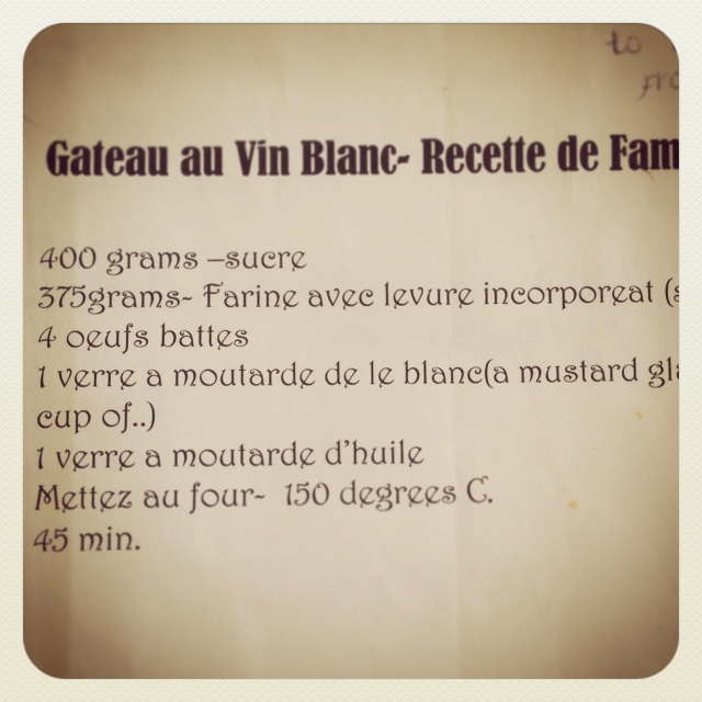 White wine recipe