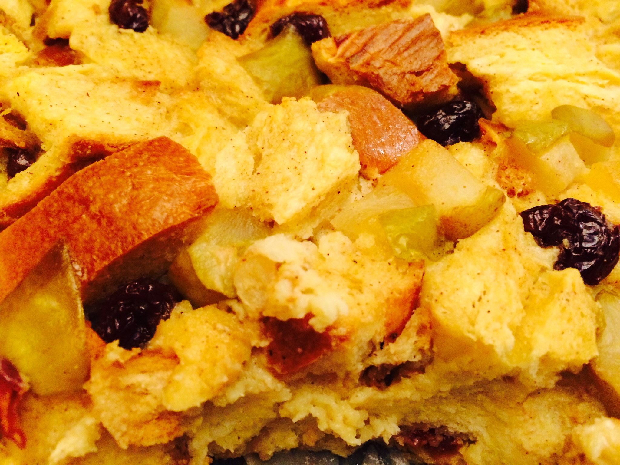 Bourbon Ginger Brioche Bread Pudding with Caramelized Pears and Dried ...