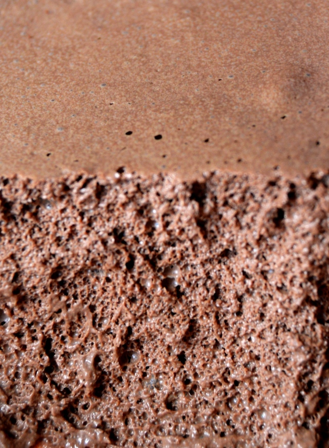 Chocolate mousse cross section