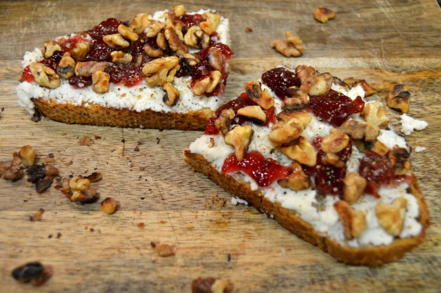 Cherry Walnut Tartine