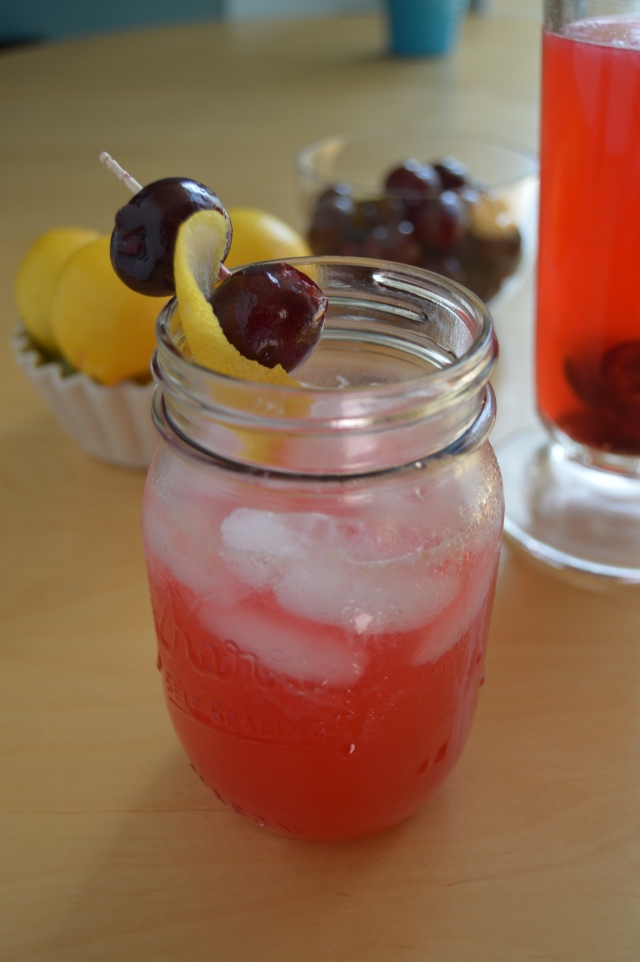 Cherry lemon cocktail