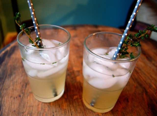 Apple thyme shrub cocktail